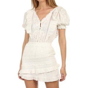 LoveShackFancy Sutton Prairie Dress in White